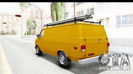 GMC Vandura 1985 HQLM para GTA San Andreas vista posterior izquierda