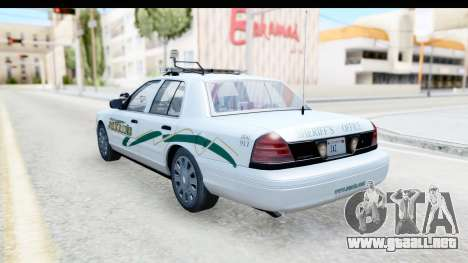 Ford Crown Victoria 2009 Southern Justice para GTA San Andreas left