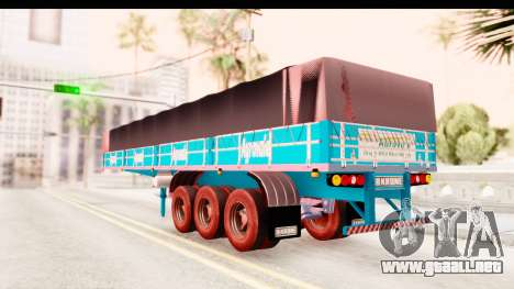 Trailer Brasil v4 para GTA San Andreas vista posterior izquierda
