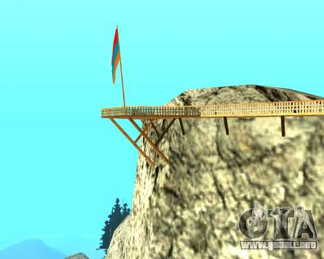 Armenian Flag On Mount Chiliad V-2.0 para GTA San Andreas tercera pantalla