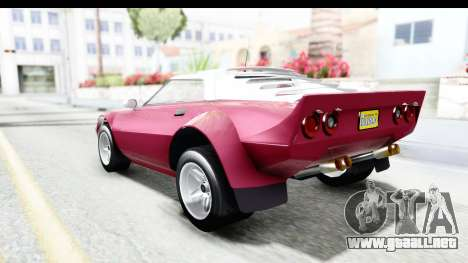 GTA 5 Lampadati Tropos Rallye No Headlights para GTA San Andreas left