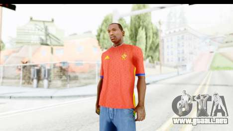Spain Home Kit 2016 para GTA San Andreas segunda pantalla