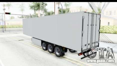 Trailer ETS2 v2 Old Skin 2 para GTA San Andreas vista posterior izquierda