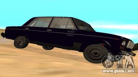 VAZ-2106 a GVR primera versión para la visión correcta GTA San Andreas