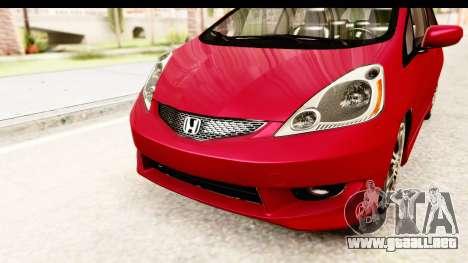 Honda Fit Sport 2009 para la vista superior GTA San Andreas