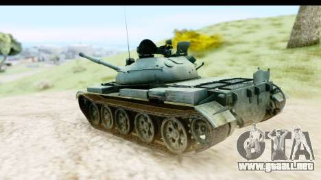 T-62 Wood Camo v1 para GTA San Andreas left