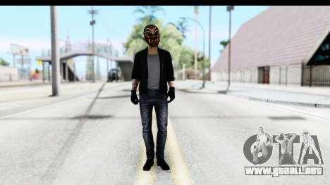 Payday 2 - Bodhi with Mask para GTA San Andreas segunda pantalla