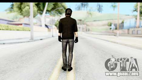 Payday 2 - Bodhi with Mask para GTA San Andreas tercera pantalla