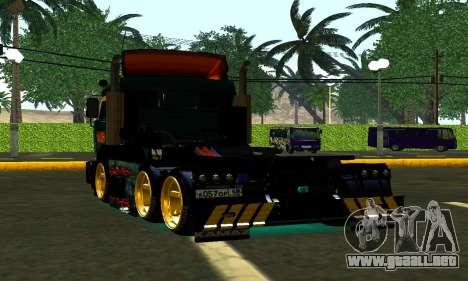 KamAZ 65115 TURBO DIESEL para GTA San Andreas vista posterior izquierda