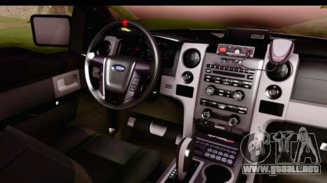 Ford F-150 Policia Federal para visión interna GTA San Andreas