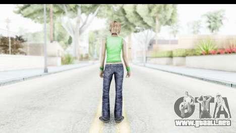 Silent Hill 3 - Heather Sporty Green Evolution para GTA San Andreas tercera pantalla