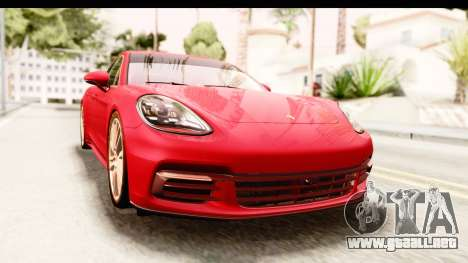 Porsche Panamera 4S 2017 v5 para la visión correcta GTA San Andreas