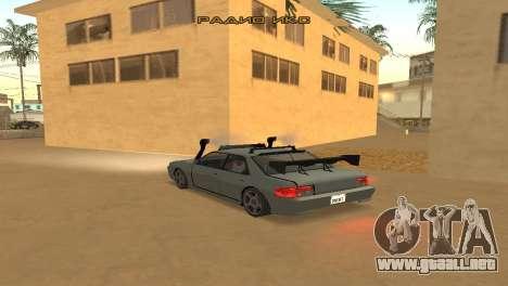 Super Sultan para GTA San Andreas vista posterior izquierda