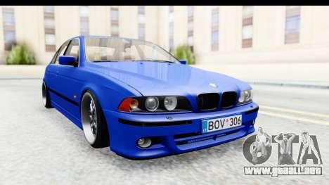BMW 525i E39 M Tech para GTA San Andreas vista posterior izquierda