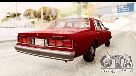 Chevrolet Caprice 1987 para GTA San Andreas left