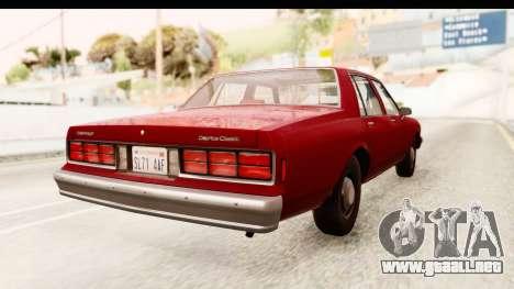 Chevrolet Caprice 1987 para GTA San Andreas left