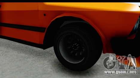 Zastava Yugo Koral 55 Race para GTA San Andreas vista hacia atrás