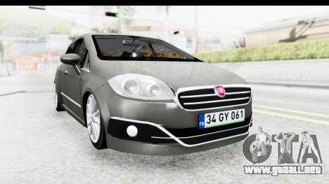 Fiat Linea 2015 v2 Wheels para la visión correcta GTA San Andreas