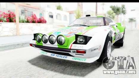 GTA 5 Lampadati Tropos Rallye para vista inferior GTA San Andreas