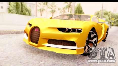 Bugatti Chiron 2017 v2.0 Updated para la visión correcta GTA San Andreas