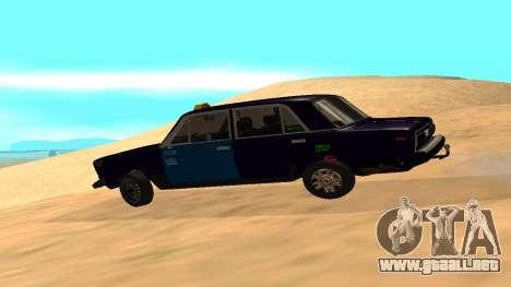 VAZ-2106 a GVR primera versión para GTA San Andreas left