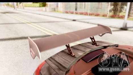Renault Megane Spyder Full Tuning v2 para la vista superior GTA San Andreas