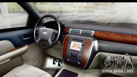 Chevrolet Silverado Duramax 2012 para visión interna GTA San Andreas