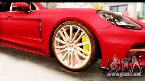 Porsche Panamera 4S 2017 v5 para GTA San Andreas vista hacia atrás