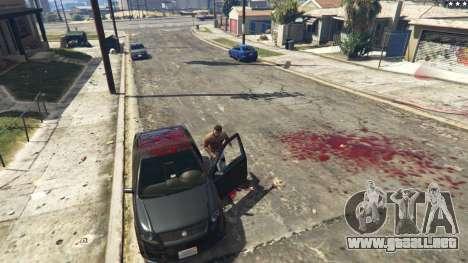GTA 5 Extreme Blood 0.1 cuarto captura de pantalla