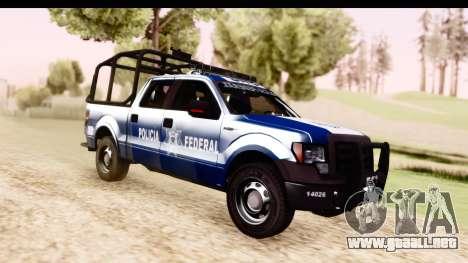 Ford F-150 Policia Federal para la visión correcta GTA San Andreas