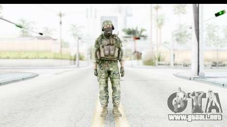 Croatian Soldier para GTA San Andreas segunda pantalla
