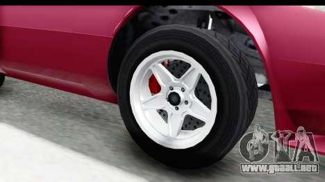 GTA 5 Lampadati Tropos Rallye No Headlights para GTA San Andreas vista hacia atrás