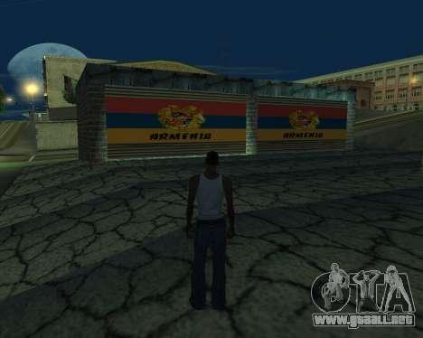 Garaje nuevo Armenia para GTA San Andreas tercera pantalla