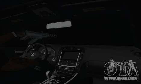 Lexus IS-F para vista lateral GTA San Andreas