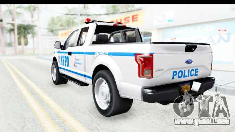 Ford F-150 Police New York para GTA San Andreas left