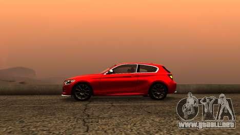BMW M135i ISlaite Edition para GTA San Andreas vista posterior izquierda