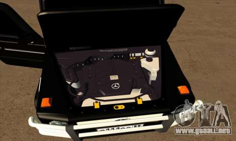 1999 Mercedes-Benz G55 AMG Brabus para vista inferior GTA San Andreas