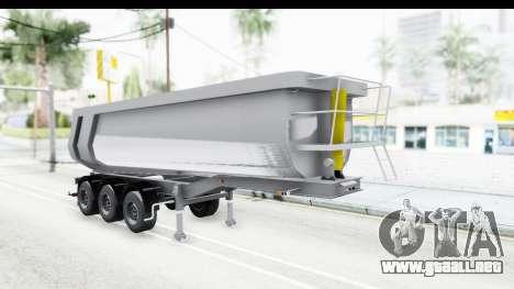 Trailer Volvo Dumper para GTA San Andreas vista posterior izquierda