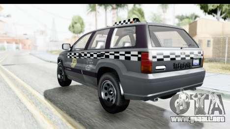 GTA 5 Canis Seminole Taxi para GTA San Andreas left