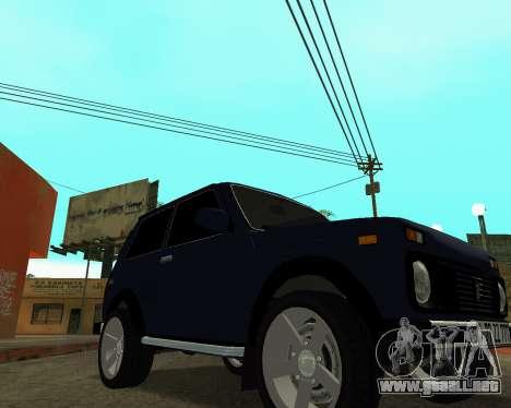 Niva 2121 Armenian para GTA San Andreas vista hacia atrás