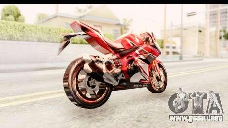Honda CBR250RR para la visión correcta GTA San Andreas
