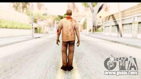 Left 4 Dead 2 - Zombie T-Shirt para GTA San Andreas tercera pantalla