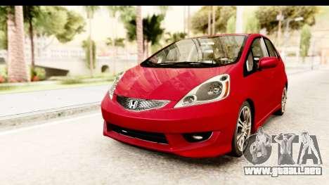 Honda Fit Sport 2009 para la visión correcta GTA San Andreas