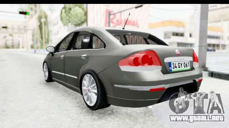 Fiat Linea 2015 v2 Wheels para GTA San Andreas left