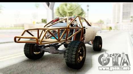 GTA 5 Trophy Truck IVF para GTA San Andreas vista posterior izquierda