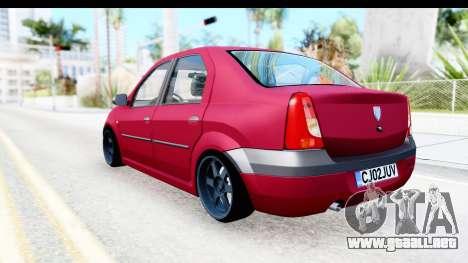 Dacia Logan Editie para GTA San Andreas left