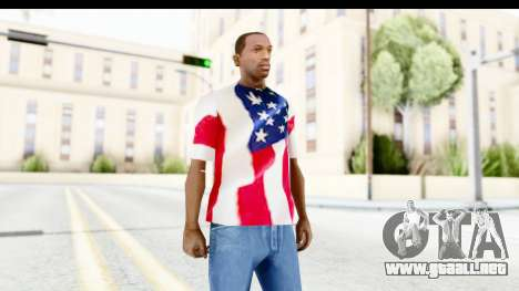 T-Shirt USA Flag para GTA San Andreas