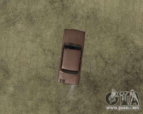 Zaz 968M armenia para GTA San Andreas vista hacia atrás