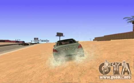 Mercedes-Benz C250 Armenian para GTA San Andreas vista posterior izquierda