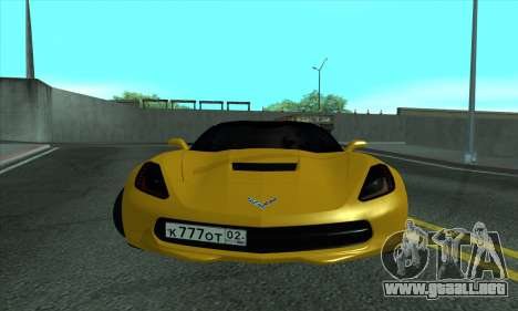 Chevrolet Corvette para GTA San Andreas left
